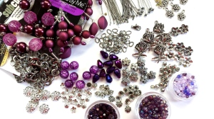 purpleandflowercharmbracematerials